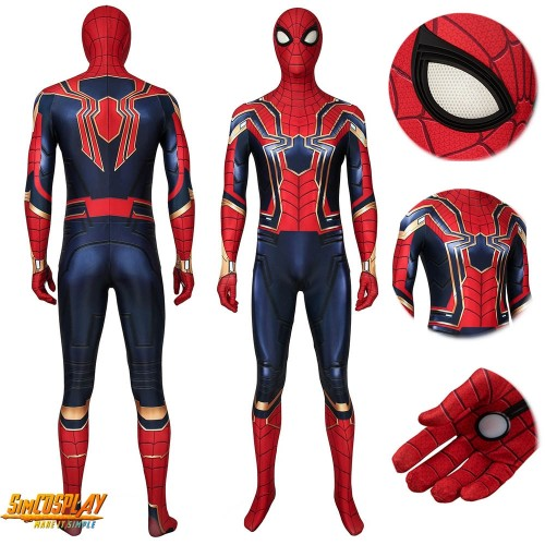 Iron Spiderman Cosplay Suit Endgame Spider-man Costume Classic Edition