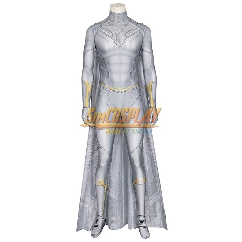 White Vision Cosplay Costume WandaVision Spandex Cosplay Suit