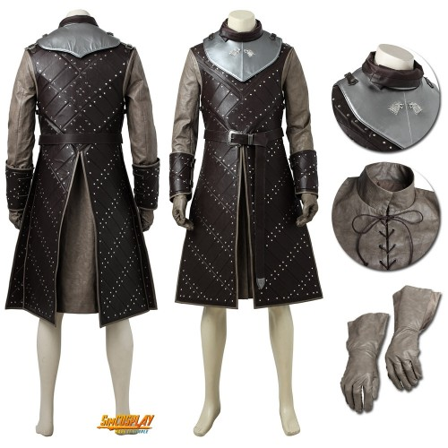 Jon Snow Costume Battle Suit Game Of Thrones Cosplay Costume
