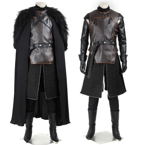 Jon Snow Night's Watch Commander Suit Cosplay Costume Game of Thrones Top Level