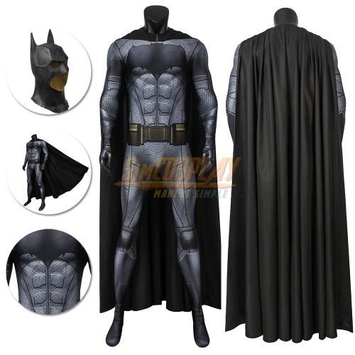 Justice League Batsuit The Batman Cosplay Costume Spandex Jumpsuit With Cloak