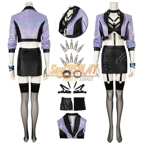 KDA All Out Evelynn Cosplay Costume LOL S10 KDA Cosplay Suit Ver.1