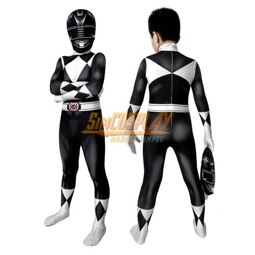 Kids Black Ranger Cosplay Suit 3D Spandex Costume Christmas Gifts for Children