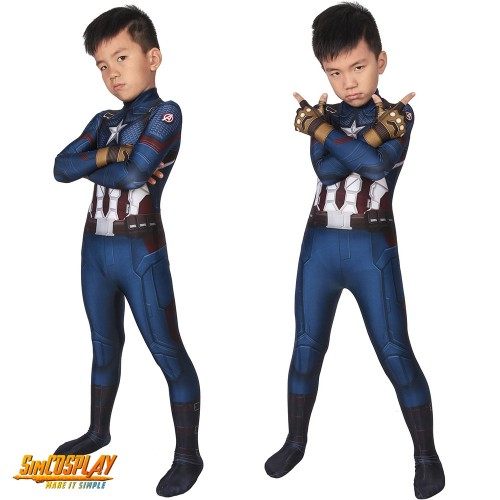 Kids Captain America Cosplay Costume Spandex Cosplay Suits For Children SKD19024