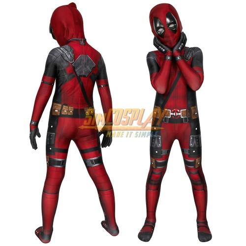 Kids Deadpool Cosplay Costume Deadpool 3D Printed Suit For Children Halloween
