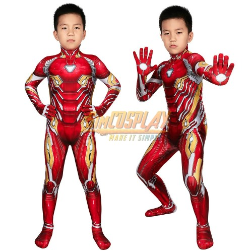 Kids Iron-man Cosplay Suit Spandex Children Halloween Cosplay Costumes