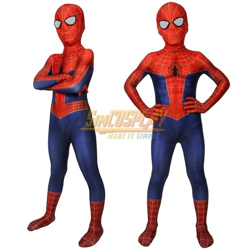 Kids Peter Parker Suit Spider-man Into The Spider Verse Cosplay Costumes