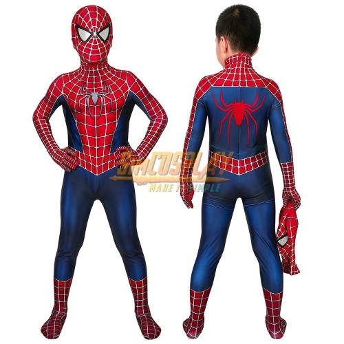 Kids Spider-man 2 Tobey Maguire Cosplay Suit Halloween Children Costumes