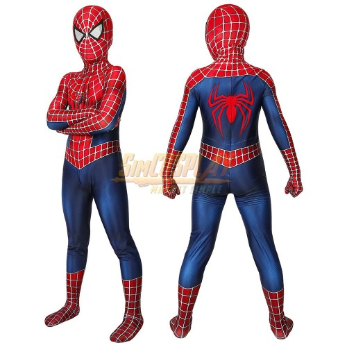 Kids Spider-man 2 Tobey Maguire Cosplay Suit Spiderman Cosplay Costume For Children