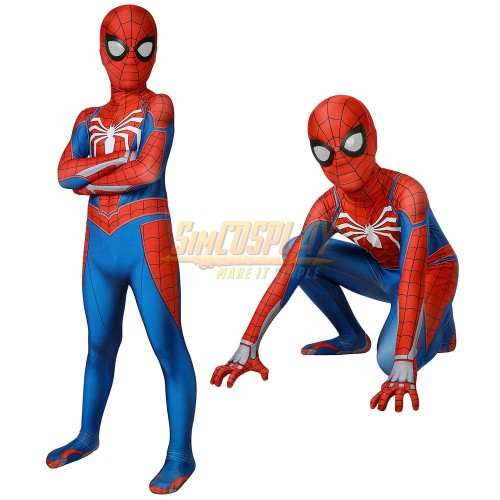 Kids Spider-man Advanced Suit PS4 Spiderman Game Cosplay Costume For Children