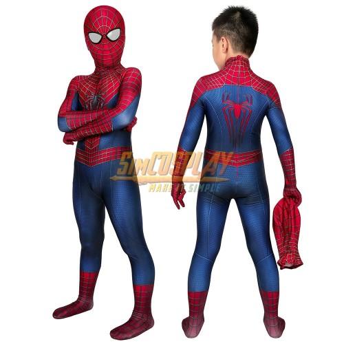Kids Spider-man Tobey Maguire Cosplay Suit Halloween Children Costumes Dark Edition