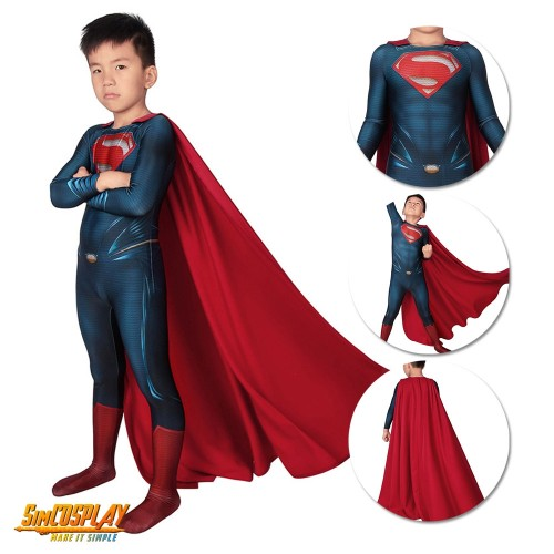 Kids Superman Cosplay Costume Spandex Suit For Children SKD19026