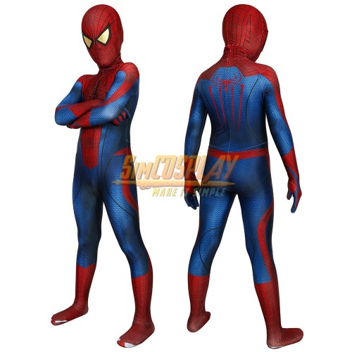 Kids The Amazing Spider-Man Peter Parker Suit HD Children Halloween Costumes
