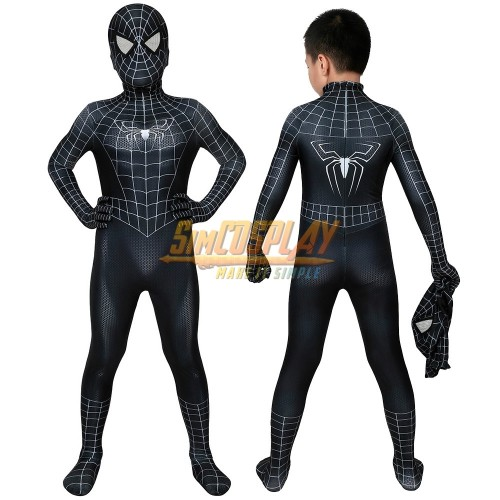 Kids Venom Cosplay Suit Black Spider-man Costume For Children Halloween