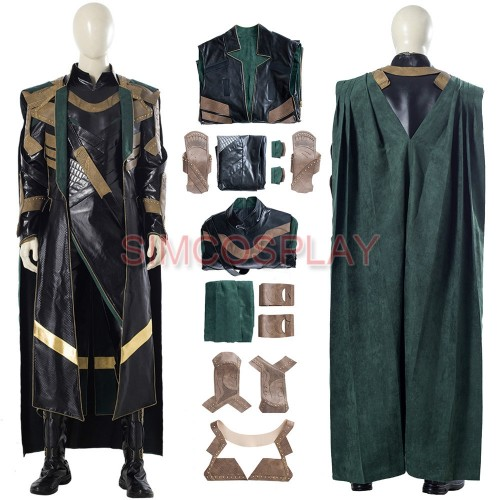 LOKI 2021 Leather Cosplay Costumes Loki Dress Up Suit Custom Size Supported