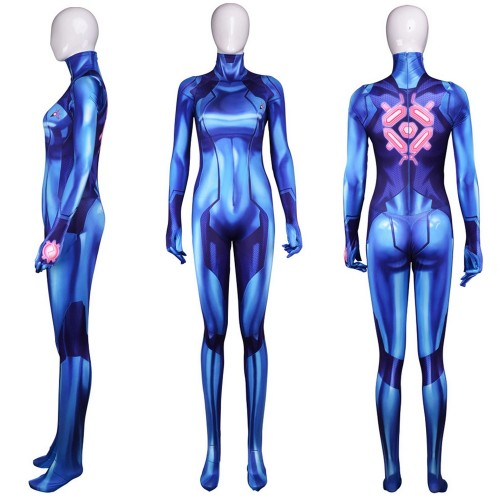 Metroid Samus Aran Zero Suit Cosplay Costume Sim1103ms