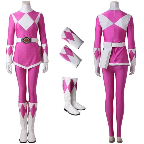 Pink Ranger Cosplay Costume Mighty Morphin Power Rangers Suit