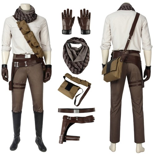 Poe Dameron Cosplay Costumes Star Wars 9 The Rise of Skywalker Suits Easy Use Edition