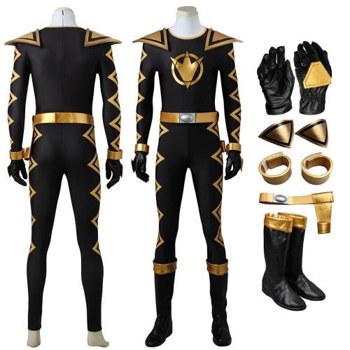 Power Rangers Dino Thunder Black Ranger Tommy Oliver Cosplay Costume