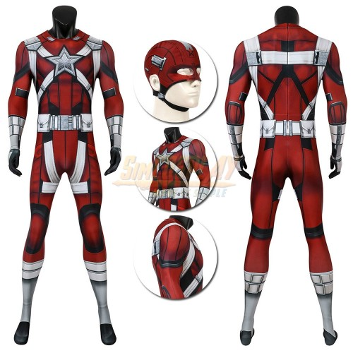 Red Guardian Cosplay Suit Black Widow 2020 Red Guardian Spandex Zentai