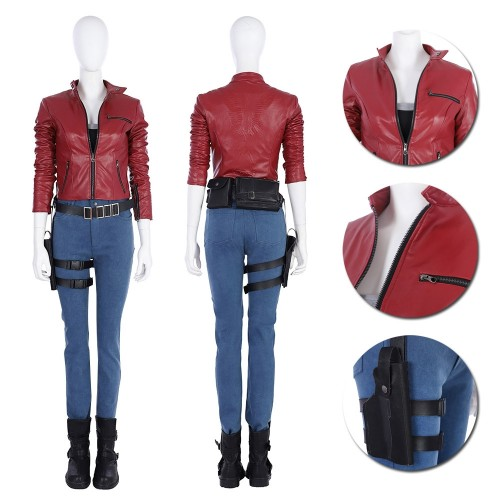 Resident Evil 2 Remake Claire Redfield Cosplay Costume Top Level