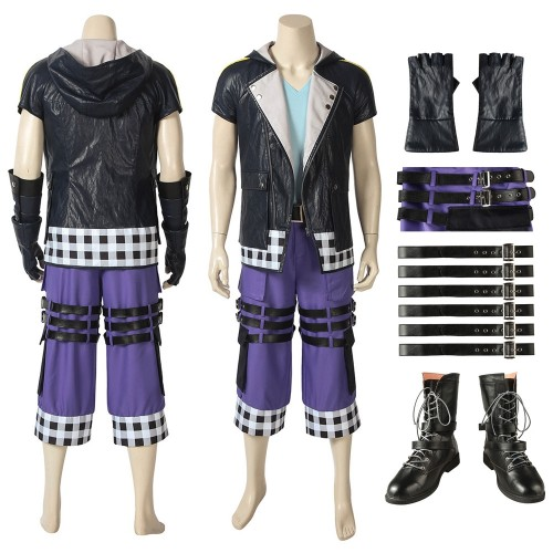Riku Cosplay Costume Kingdom Hearts 3 Leather Edition
