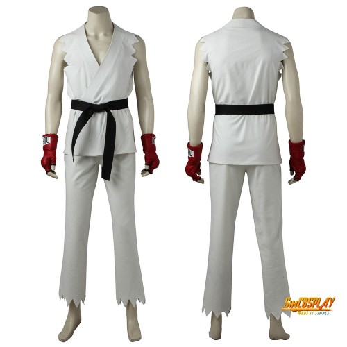 Ryu Cosplay Costume Karate Black Belt Suits Street Fighter Cosplay Outfits