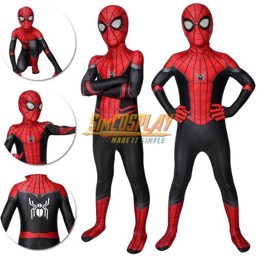 Kids Spider-man Cosplay Suit Far From Home Black and Red Costume Edition