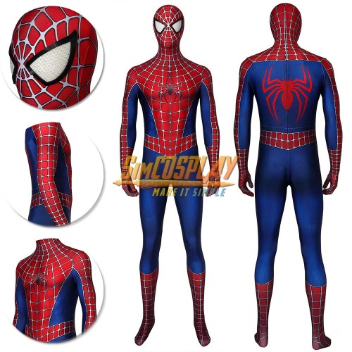 Spider-man Classic Cosplay Suit Tobey Maguire Edition Spiderman Cosplay Costume