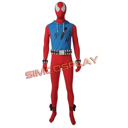 Scarlet Spider Man Ben Reily Cosplay Costume Top Level