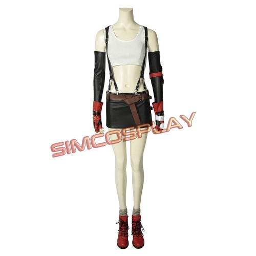 Final Fantasy VII Remake Tifa Cosplay Costume Classic Edition
