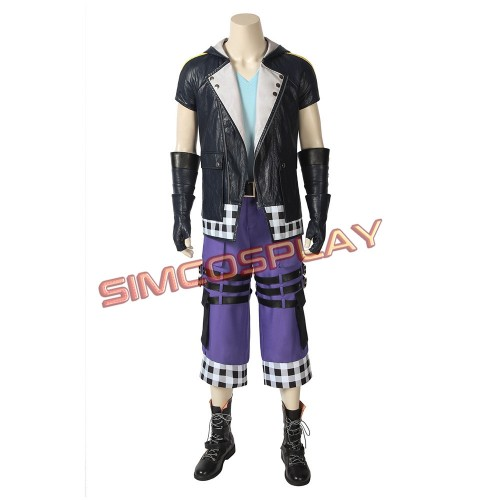 Riku Cosplay Costume Kingdom Hearts 3 Leather Edition