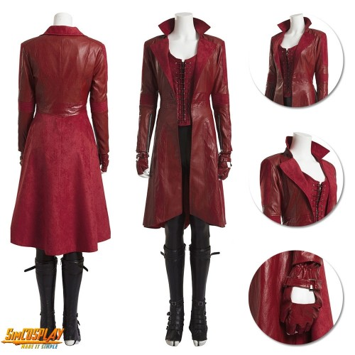 Scarlet Witch Costume Wanda Maximoff Classic Cosplay Suit Top Level