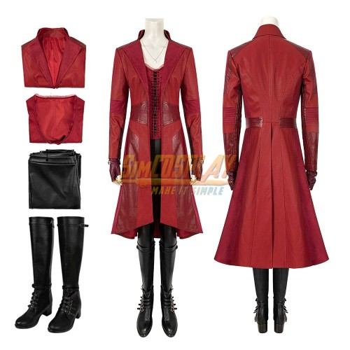 Scarlet Witch Wanda Cosplay Costume Avengers Endgame Edition