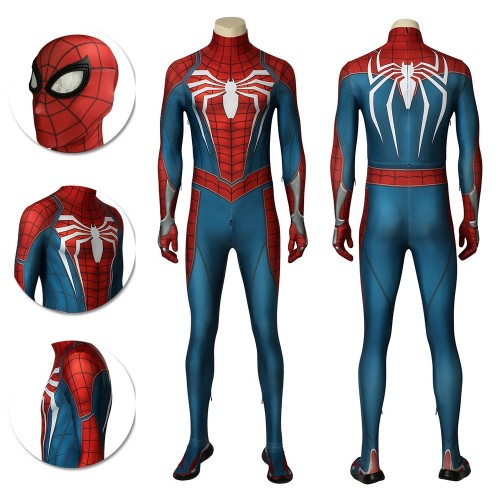 Spider-man Advanced Suit PS4 Spiderman Game Cosplay Costume