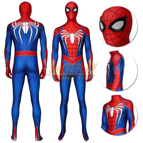 Spider-man Advanced Suit PS4 Spiderman Game Cosplay Costume Ver.2