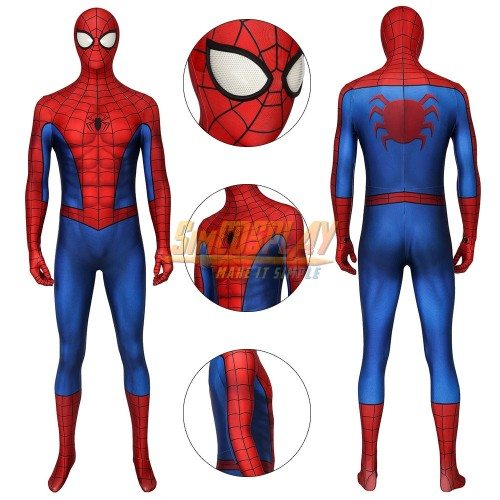 Spider-man Cosplay Costume PS4 Game Classic Suit Repaired Version