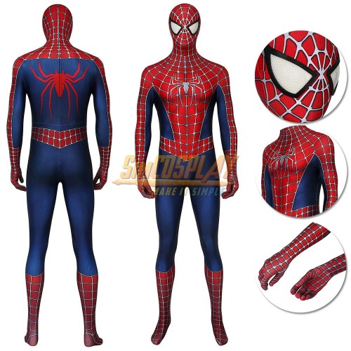 Spider-man Cosplay Costume Spider-man 2 Tobey Maguire Suit
