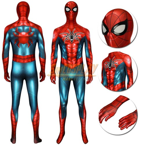 Spider-man Cosplay Suit Spider-Armor MK IV HQ Printed Edition Spandex Costume