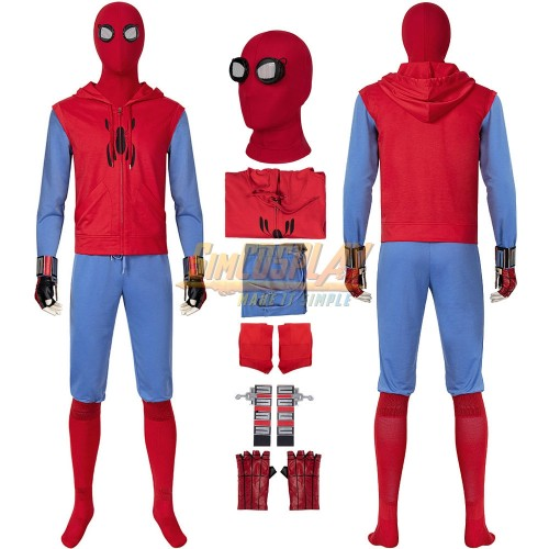 Spider-man Homecoming Dress Up Cosplay Costume Homemade Suit Ver.2
