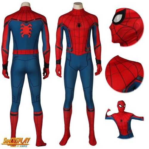 Spider-man Homecoming HQ Printed Cosplay Costume Sac4193
