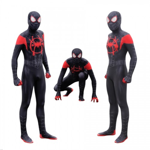 Spider-man into the spider-verse Miles Morales black suit