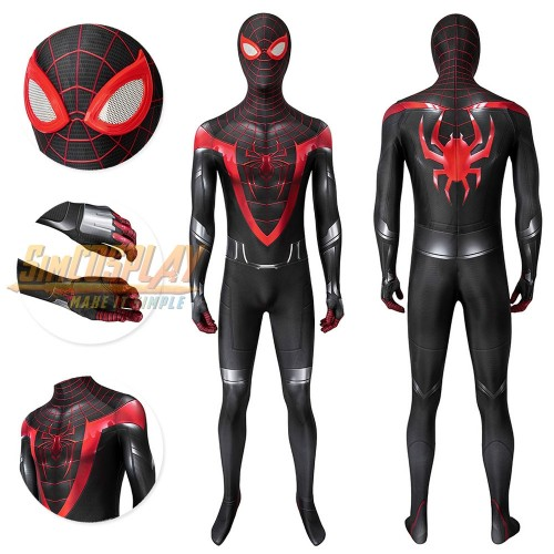 Spider-man Miles Morales PS5 Cosplay Costume Top Level