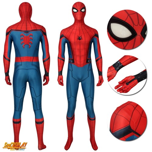Spider-man Peter Paker Classic Suits Spider-man Far From Home Cosplay Suits