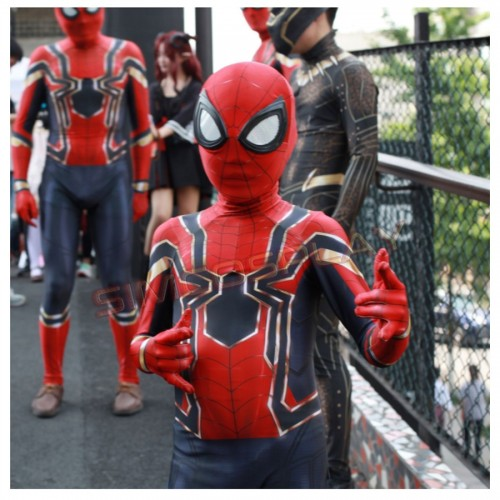 Spider-man Spandex Cosplay Jumpsuit Costume For Kids