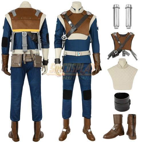 Star Wars Cal Cosplay Costume Jedi Fallen Order Cal Classic Suit Top Level