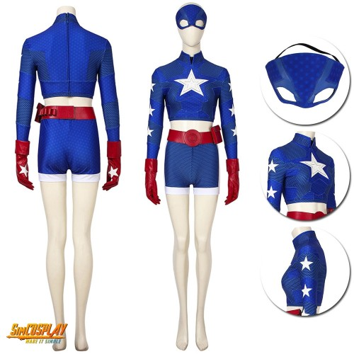 Stargirl Courtney Whitmore Cosplay Costume Star-Spangled Kid Suit Sac194491