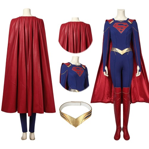 Supergirl Kara Zor-El Cosplay Costume Supergirl Season 5 Cosplay Suits Ver.2