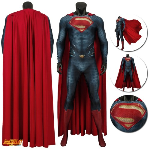 Superman Man of Steel Cosplay Costumes Clark Kent Suit Sac194300