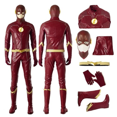 The Flash Season 4 Barry Allen Cosplay Costume Top Level